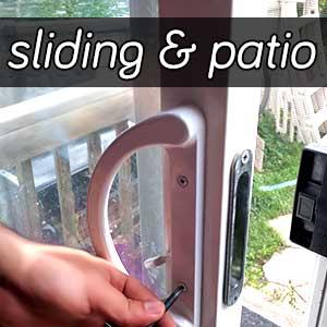 A Sliding patio door
