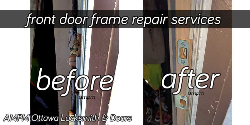 A front door frame repair project
