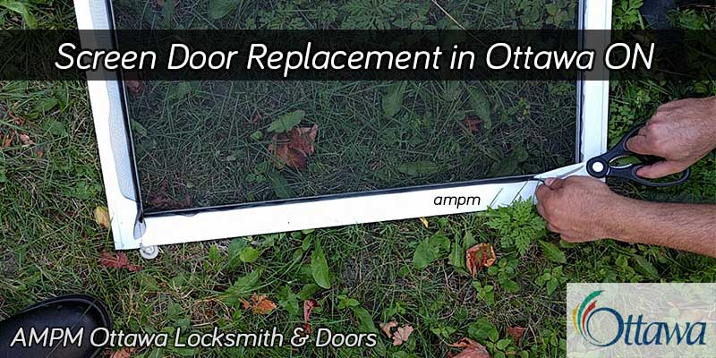 Screen door repair project