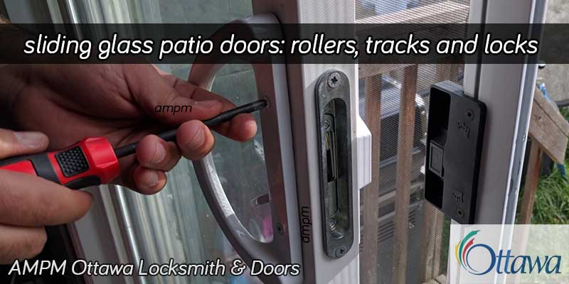 Glass patio door handle replacement project