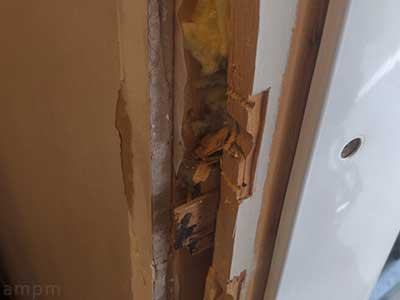 Repair cracked door frame