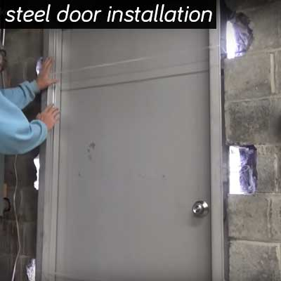 Steel Door Frame Installation